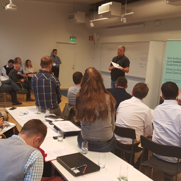 classes during our MBA at Stockholm Business School, Stockholm University
