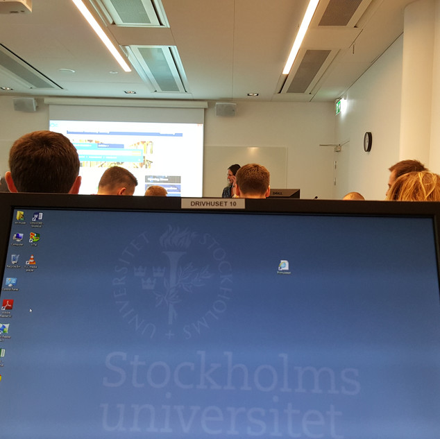 classes at Stockholm University, Stockholm Business School