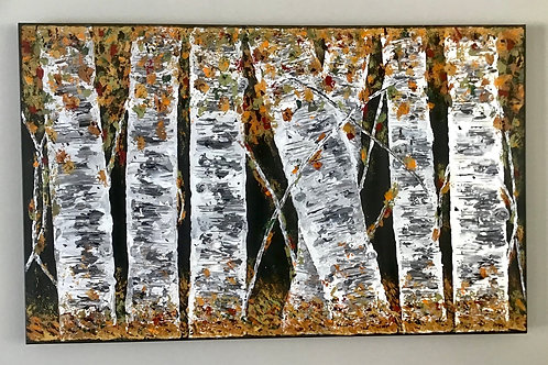 Birch Trees IV