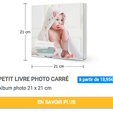 Petit livre photo carré Album photo 21 x 21 cm