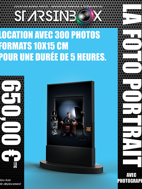FOTO PORTRAIT ET PHOTOGRAPHE Location de 5 heures  et 300 photos