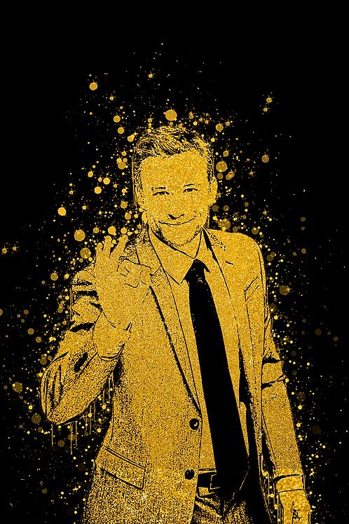 TOILE EFFET GOLDEN ART