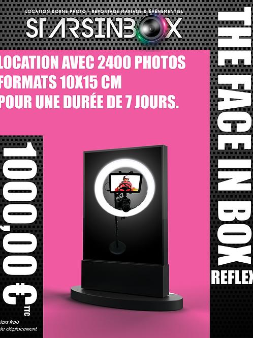 FACE IN BOX REFLEX  Location de  7 jours et  2 400 photos 10x15cm.