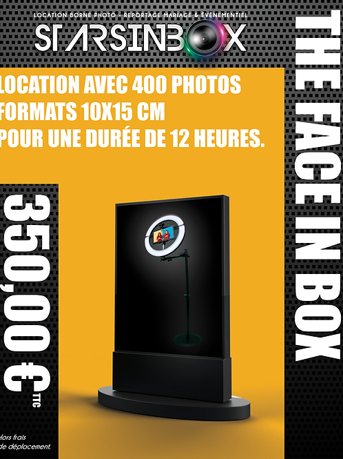 FACE IN BOX Location de 12 heures  et 400 photos 10x15cm.