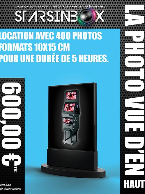 PHOTO VUE DE HAUT Forfait une animation de 5 heures et 400 photos 10x15