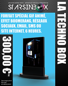 Pack Techno box sans tirage photo 300 €.