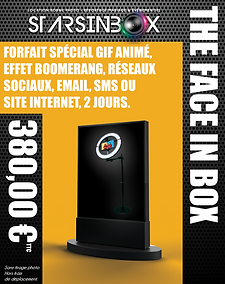 Pack Face in box 2JOURS sans tirage phot