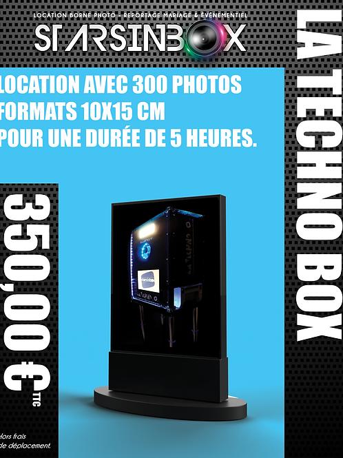 TECHNO BOX Location de 5 heures et 300 photos 10x15cm.