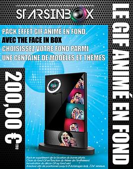 3D pack face in box avec fond gif animé