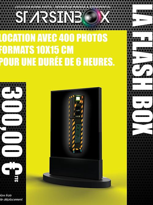 FLASH BOX Location de 6 heures et 400 photos 10x15cm