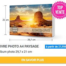 Livre photo A4 paysage Album photo 29,7 x 21 cm