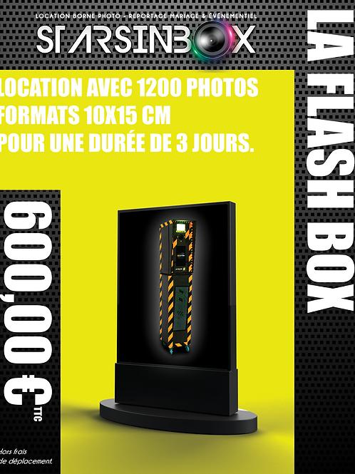 FLASH BOX Location de 3 jours et 1200 photos 10x15cm