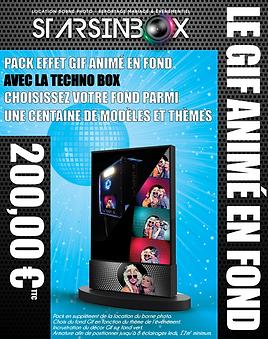 3D pack techno box avec fond gif animé.