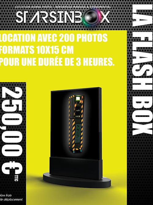 FLASH BOX Location de 3 heures et 200 photos 10x15cm