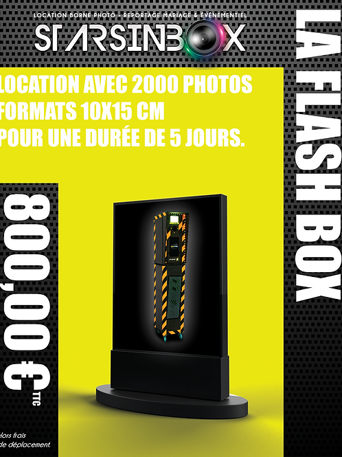 FLASH BOX Location de 5 jours et 2000 photos 10x15cm