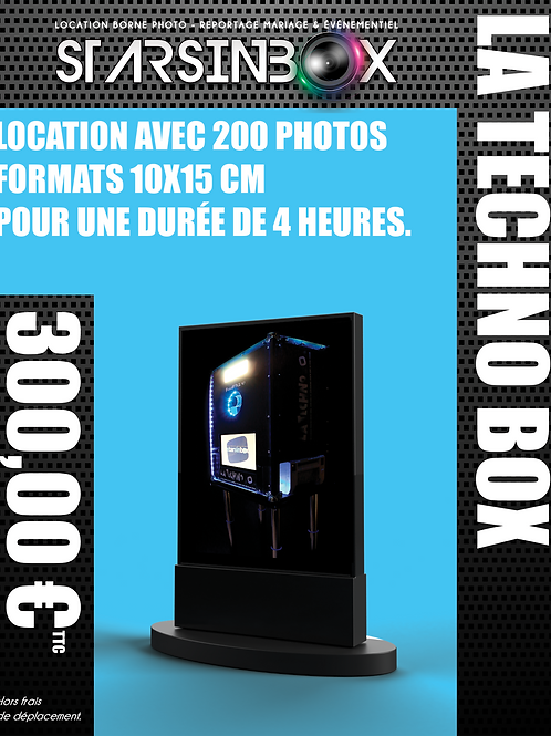 TECHNO BOX Location de 4 heures et 200 photos 10x15cm.