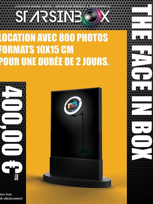 FACE IN BOX Location de 2 jours et 800 photos 10x15cm.