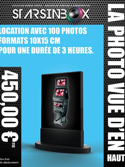PHOTO VUE DE HAUT Forfait une animation de 2 heures et 100 photos 10x15cm.