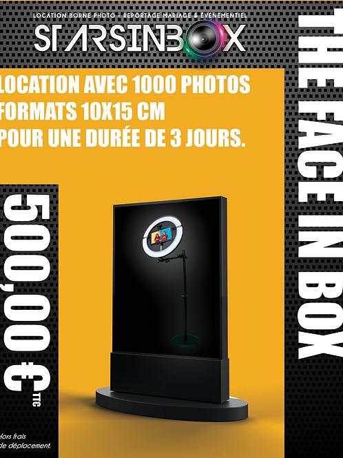 FACE IN BOX Location de 3 jours et 1000 photos 10x15cm.