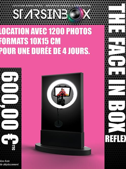 FACE IN BOX REFLEX Location de  4 jours et  1 200 photos 10x15cm.