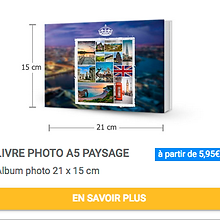 Livre photo A5 paysage Album photo 15x21 cm