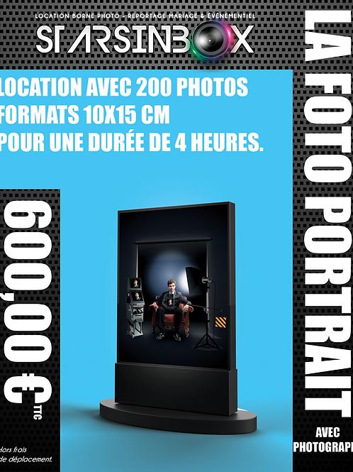FOTO PORTRAIT ET PHOTOGRAPHE Location de 4 heures  et 200 photos