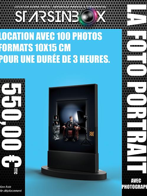 FOTO PORTRAIT ET PHOTOGRAPHE Location de 3 heures  et 100 photos 10x15cm.