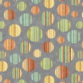 Quilting Treasures - Dan Morris - Toyland - Circles - Grey -  27780 - K