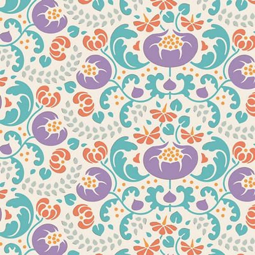Quilting Cotton - Tilda - Lazy Days - Mildred - Lilac - 100170