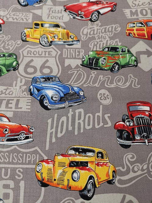 Quilting Cotton - Nutex - Hot Rods - 89540 - 101 - Grey
