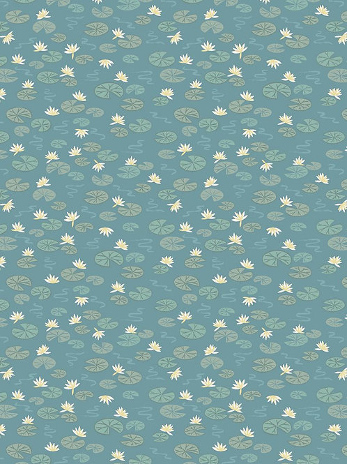 Lewis And Irene - Down By the River - Lily Pads - Teal Green - A223.2