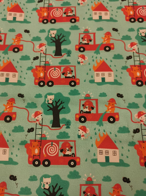 Lillestoff - Summersweat /French Terry - Firetruck Print