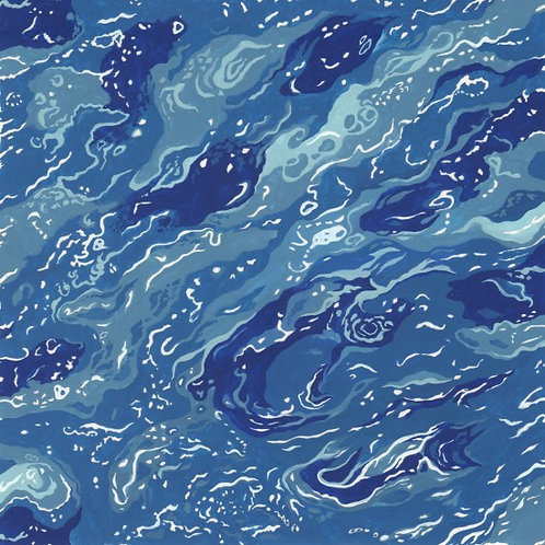 Quilting Cotton - Nutex - 11720 - By The Sea - 102 - Sea Blue