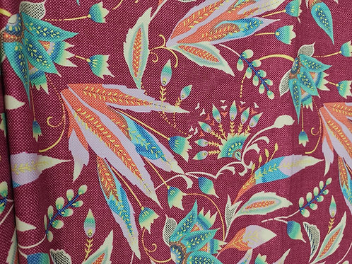 Quilting Cotton - Floral Print - Red And Multi