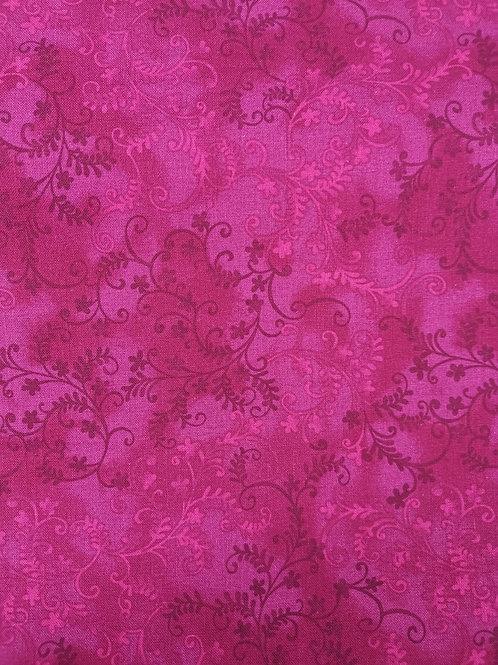 Quilting Cotton - Vine Leaf Print - Pink