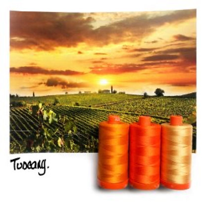 Aurifil - Colour Builders Thread Collection - Tuscany - Oranges