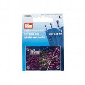028800 Prym Easy grasp pins 38 x 0,58 mm silver-coloured purple