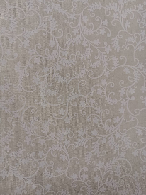 Quilting Cotton - Vine Leaf Print - Ecru
