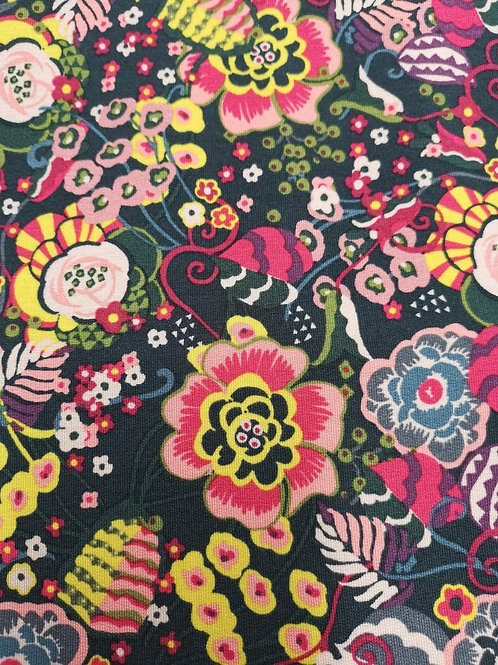 Modal Cotton Jersey  - Floral Print - Multicoloured