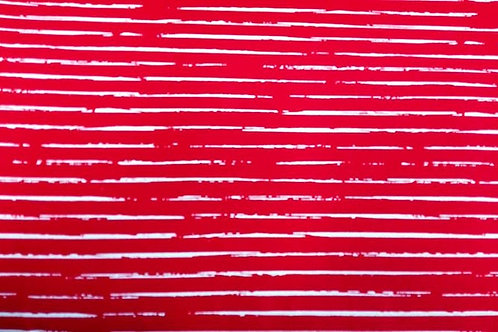 Cotton Jersey - Broken Stripes Print - Red