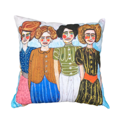 Vera And Her Sisters Cushion - Karen Hickey