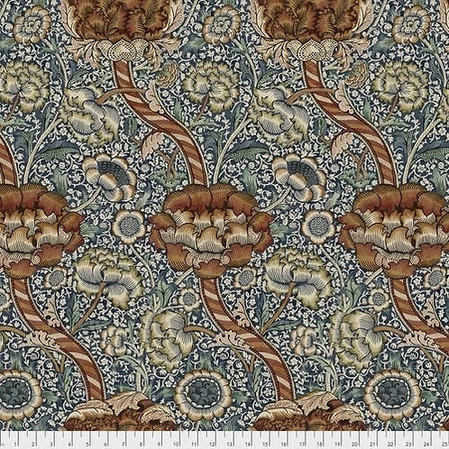 Free Spirit - Morris And Co - Floral Print - Blue And Multi (125PWWM01FORES)