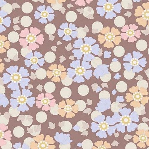 Quilting Cotton - Tilda - Plum Garden - Windflower Nutmeg - 100190