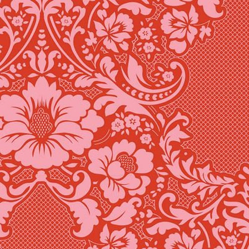 Quilting Cotton - Tilda - Lazy Days - Eleanore - Coral Red - 100164