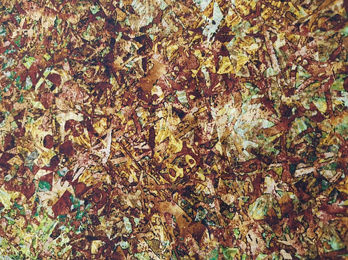 Quilting Cotton - Quilting Treasures - Dan Morris - Brown Abstract Print
