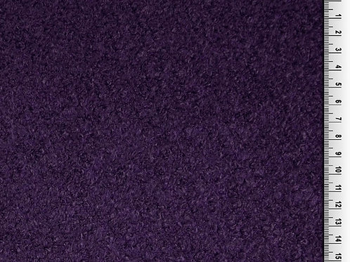 Dress Fabric- Wool Mix Boucle - Purple