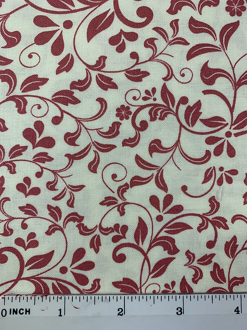 Quilting Cotton - John Louden - Ivory and Rose