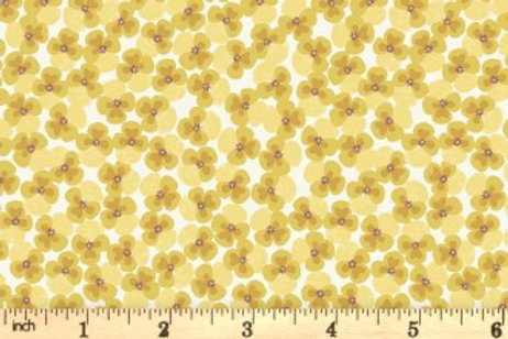 Lewis And Irene - Jolly Spring - Pansy - Yellow - A340.1