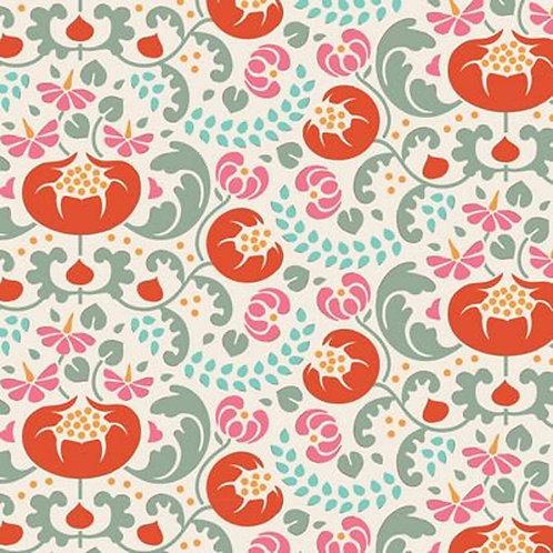 Quilting Cotton - Tilda - Lazy Days - Mildred - Ginger - 100163