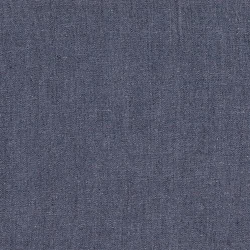 Dress Fabric - 100% Cotton Chambray - Dark Blue